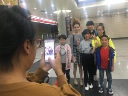 Tereza Enjoying a Pictures With Chinese People
