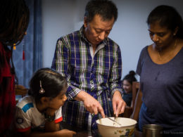 Family dumpling activity