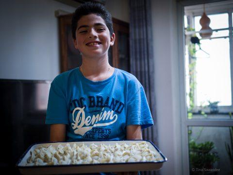 Laver dumplings (melboller med fyld)