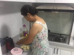 Homestay Mum Cooking Dinner