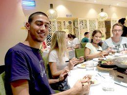 Wednesday night Dinner for Shanghai students