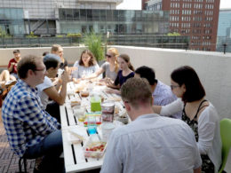 Lunchtime at LTL Beijing on the rooftop