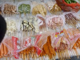 Food available on the streets of Chengde