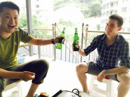 Beer with the Homestay Family