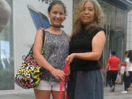 Laodice and her homestay Mum in Chengde