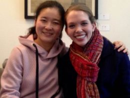 Kathryn with Teacher Helen