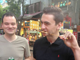 Sampling the street food in Beijing