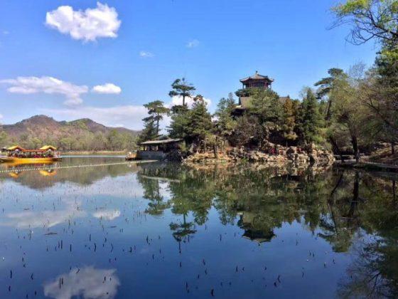 Det smukke scenarie i Chengde