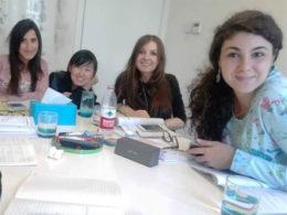 Sofia and her Italian students