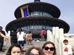 Marie, Jasmine and Christina enjoying the sights of Beijing