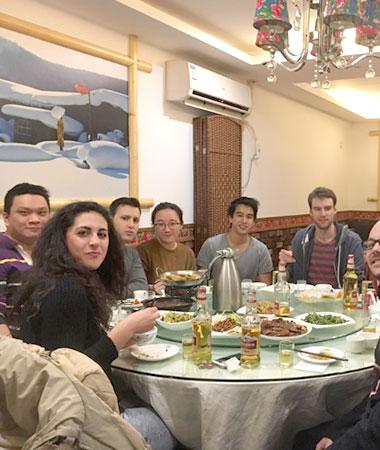 Social middag i Shanghai