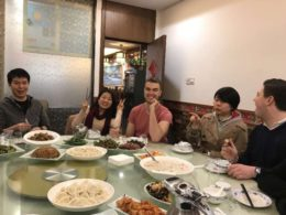 Teachers and Students enjoy dinner together